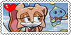 Cream The Rabbit and Cheese The Chao, stamp by conexionmanga