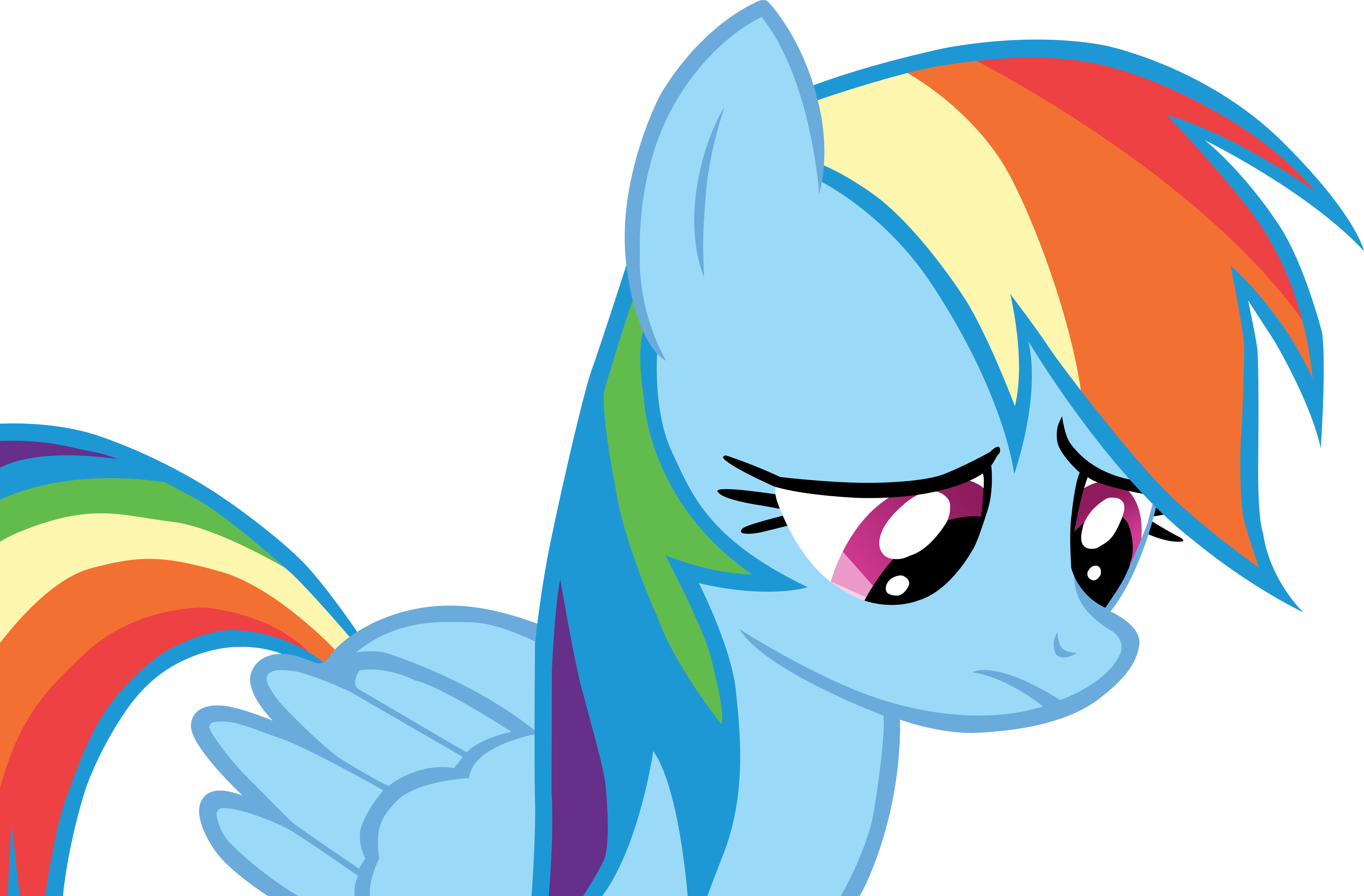 Sad Rainbow Dash is sad