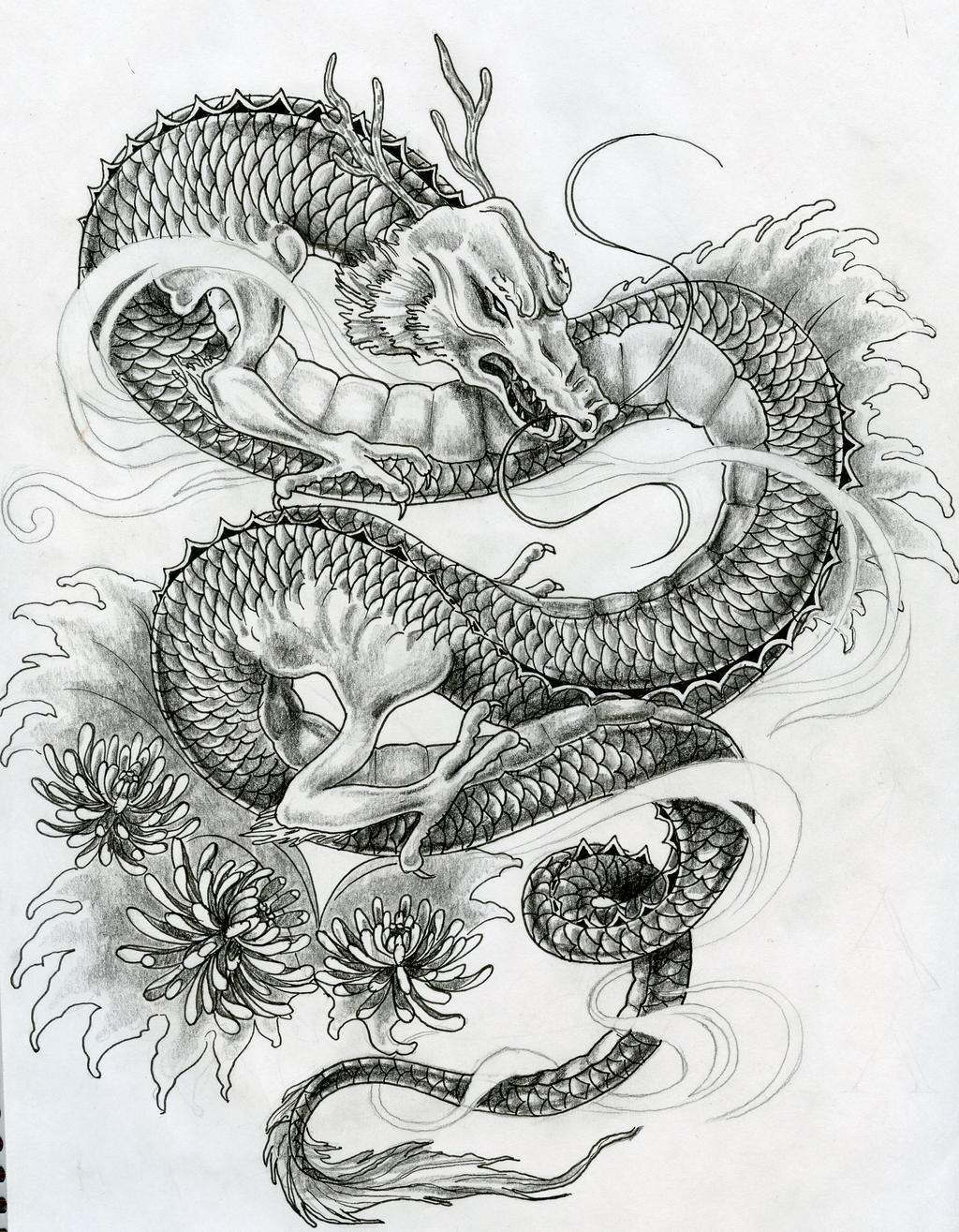 japanese dragon tattoo design by zakariaseatworld on deviantart. Black Bedroom Furniture Sets. Home Design Ideas