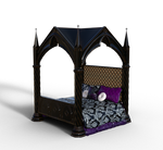 Gothic Decor Bed