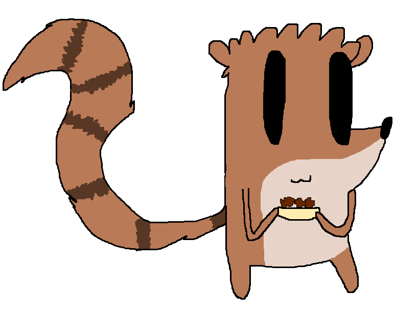 Chibi Rigby got him a meatball sub by thegirlwiththedisxl