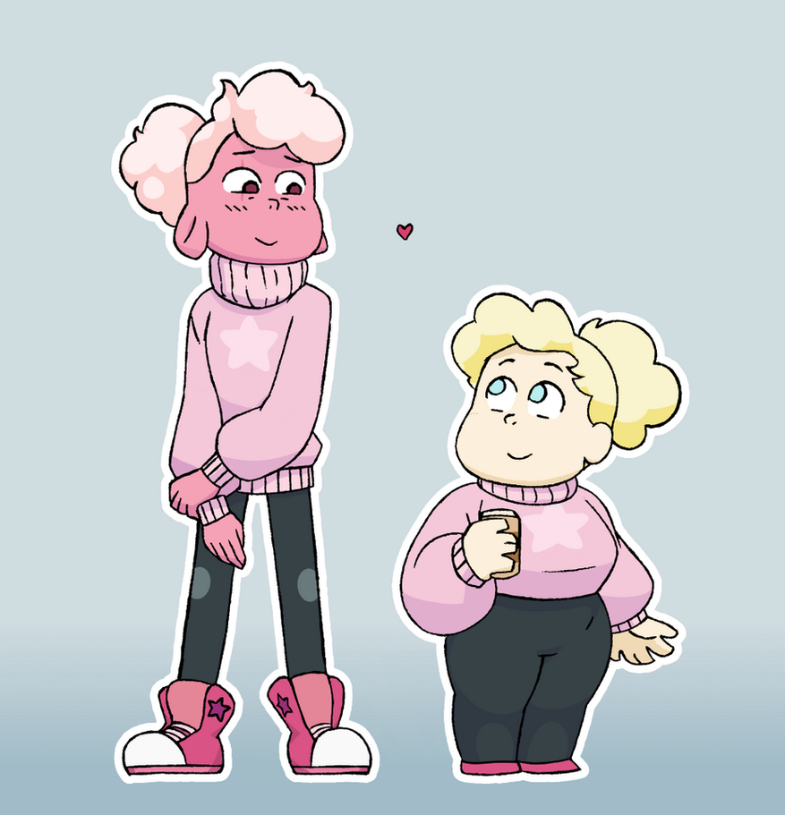 Lets be honest. ~~~~~~~~~~~~~~~~~~♡~~~~~~~~~~~~~~~~~~ Lars and Sadie from Steven Universe. I do not own Steven Universe or these characters. >u0 The clothing is inspired by an art of Lars ...