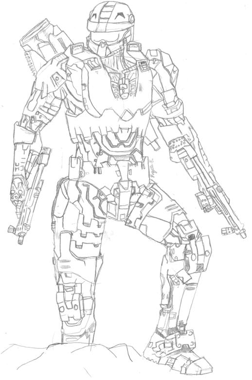 Master chief halo by konanzxd on deviantart for Master chief coloring pages