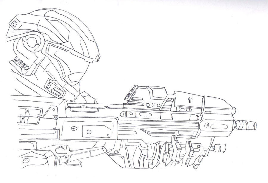 Halo Characters Drawings Drawing Halo Reach Spartan
