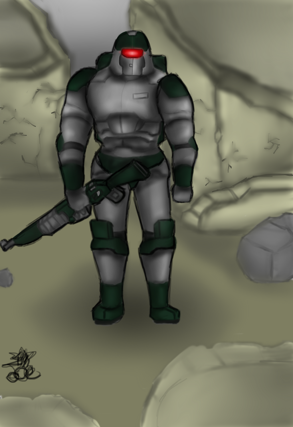 Just a space soldier by ChromeFlames