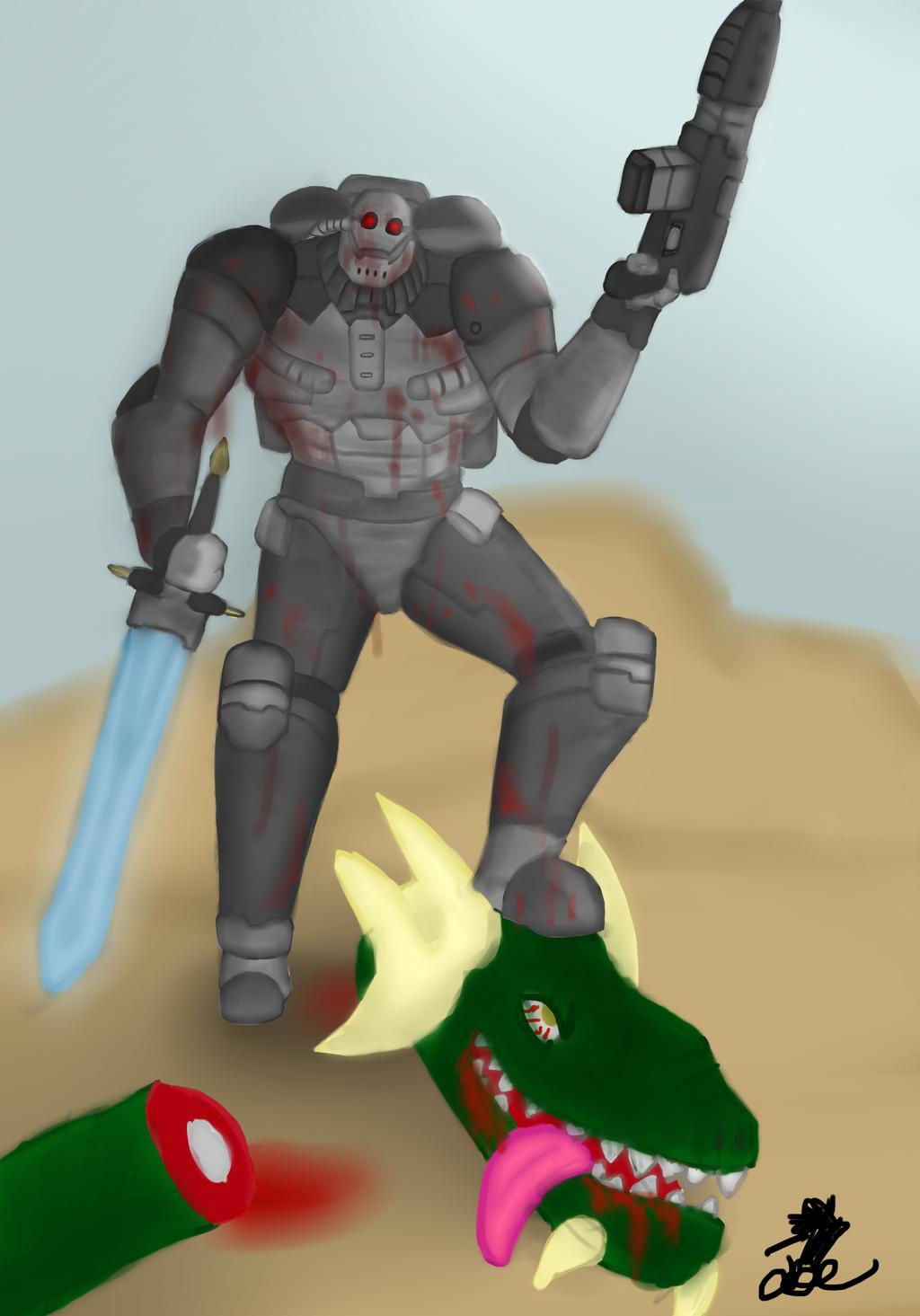 Harval, the Bounty Slayer by ChromeFlames