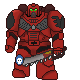Blood Angel Pokemon Trainer sprite by ChromeFlames