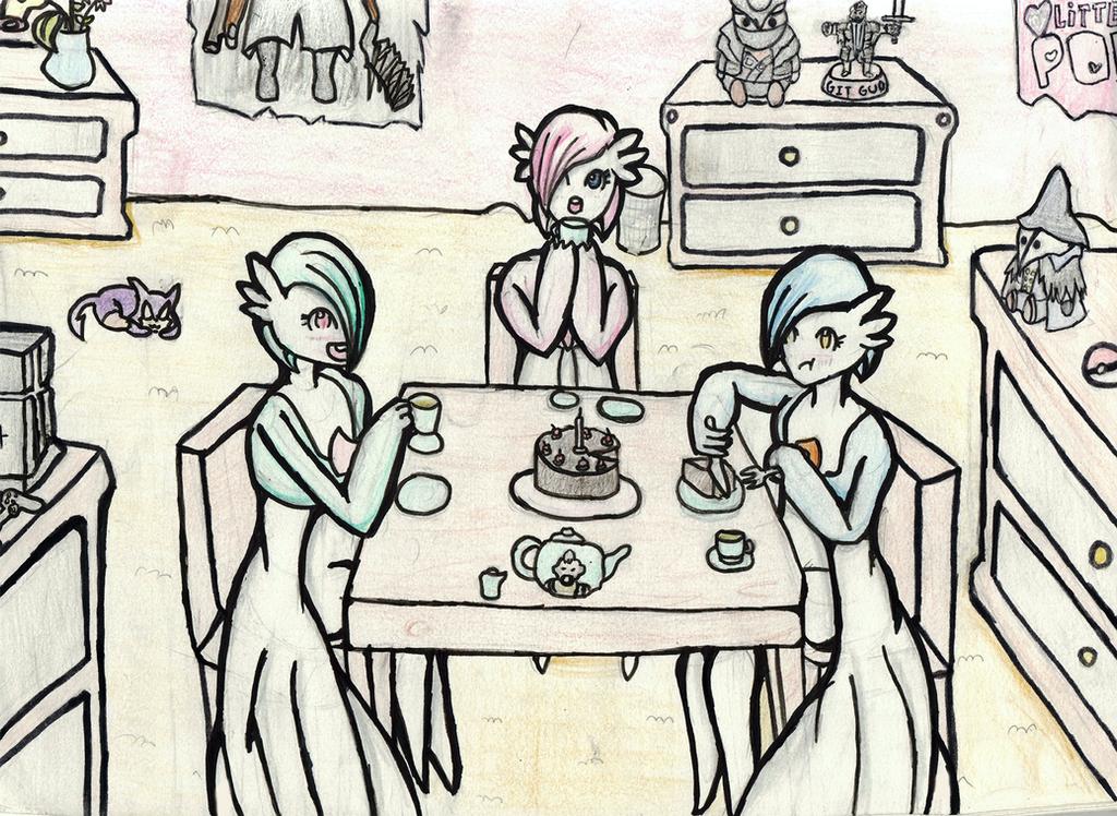 Gardevoir Tea Time by ChromeFlames