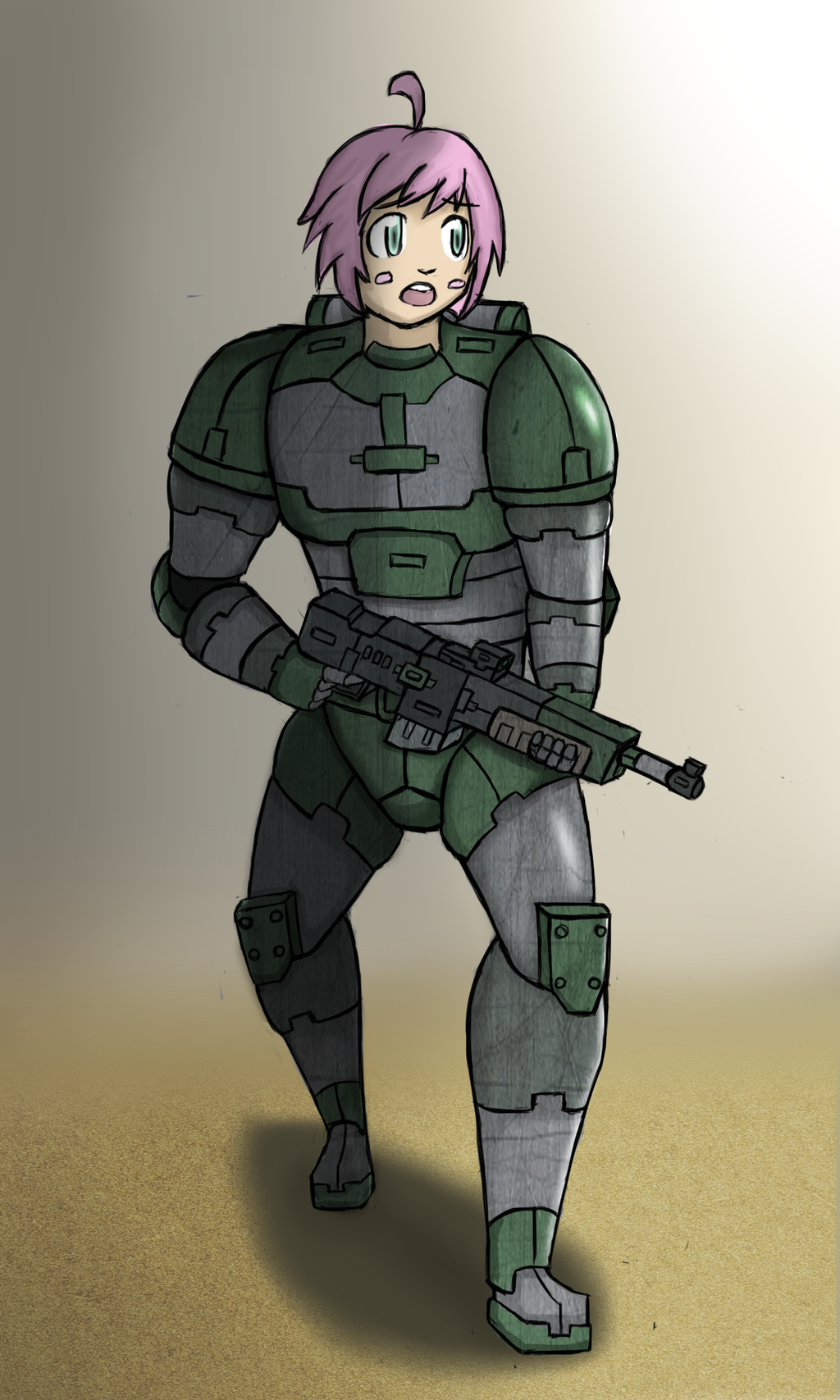 Female Soldier by ChromeFlames