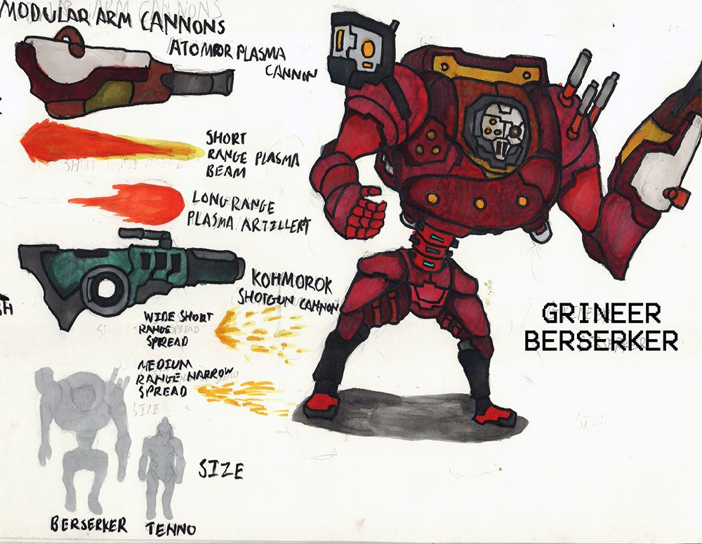 Warframe Enemy Concept - Grineer Berserker by ChromeFlames