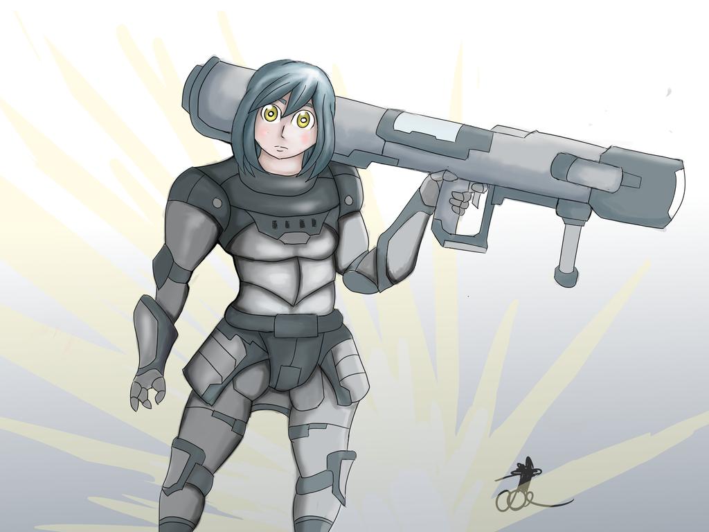 Rocket Launcher girl by ChromeFlames