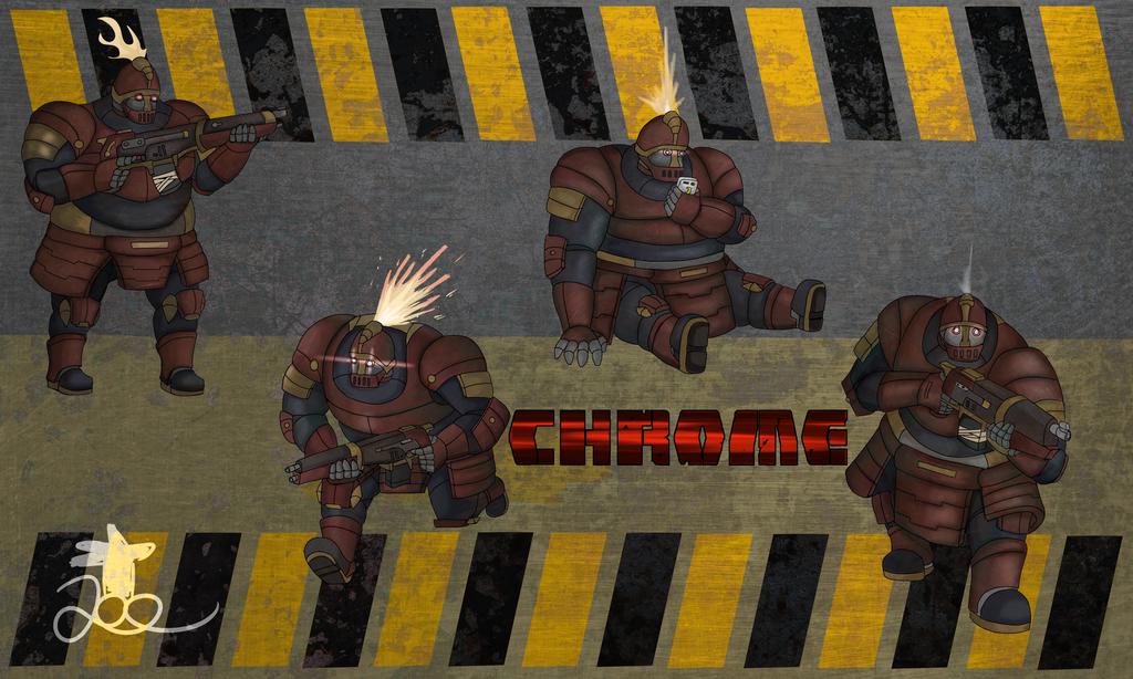 Chrome, the Armourtron by ChromeFlames