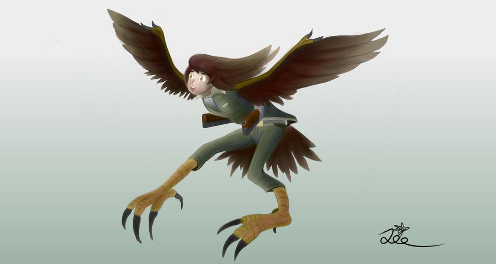 Monmusu marines #2 - Harpy Aviator by ChromeFlames