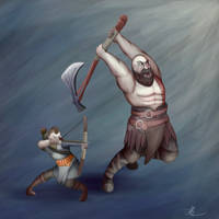 Kratos and aetrus by ChromeFlames