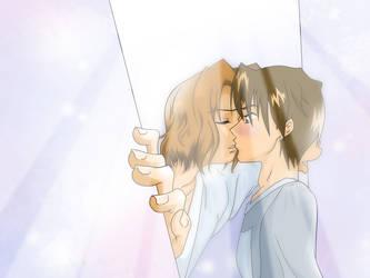Kiss in the Doorway by mandyclark