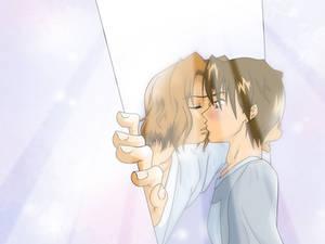 Kiss in the Doorway
