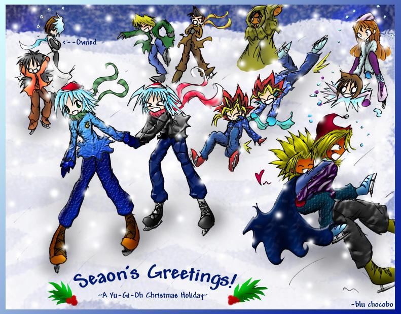 Winter Fall-Season's Greetings by blu-chocobo