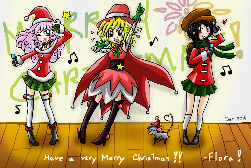 Merry Christmas Idol-ing! 2014! by blu-chocobo