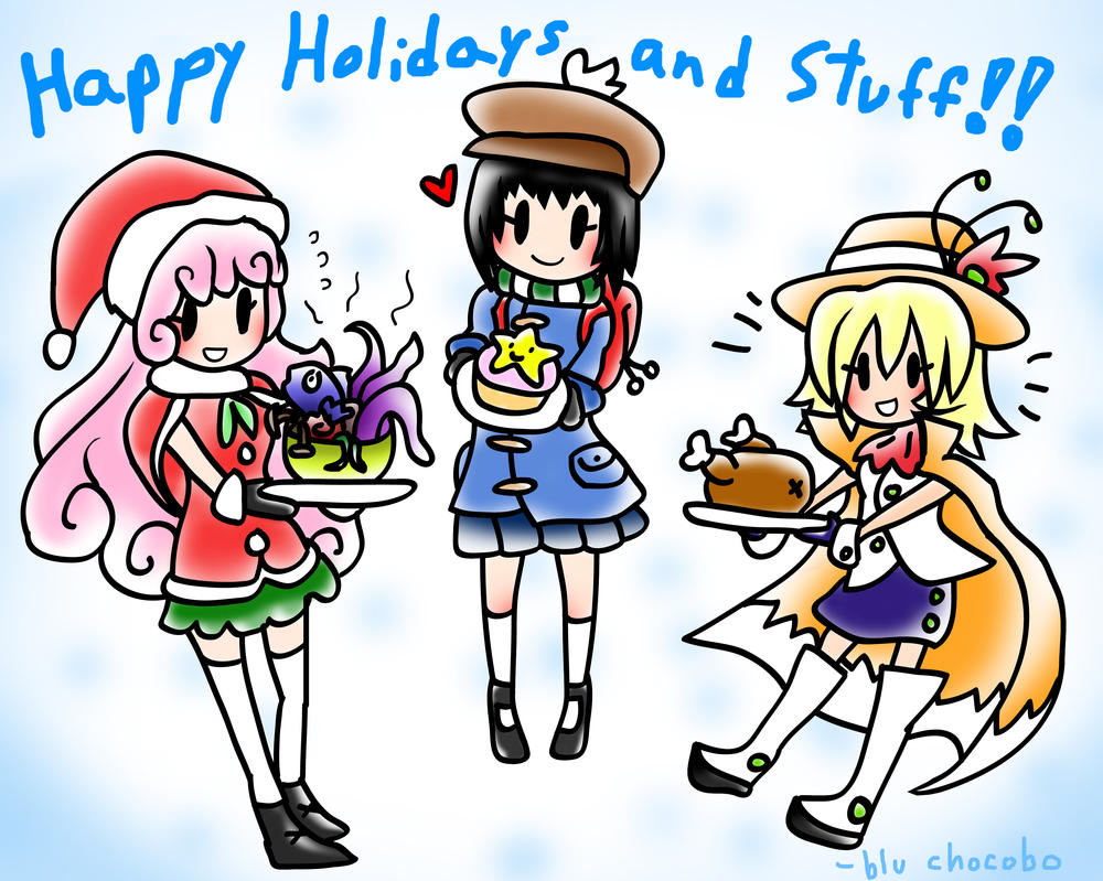 Holiday Card 2015! by blu-chocobo