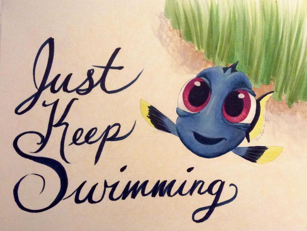 Just Keep Swimming - Finding Nemo - T-Shirt | TeePublic |Just Keep Swimming