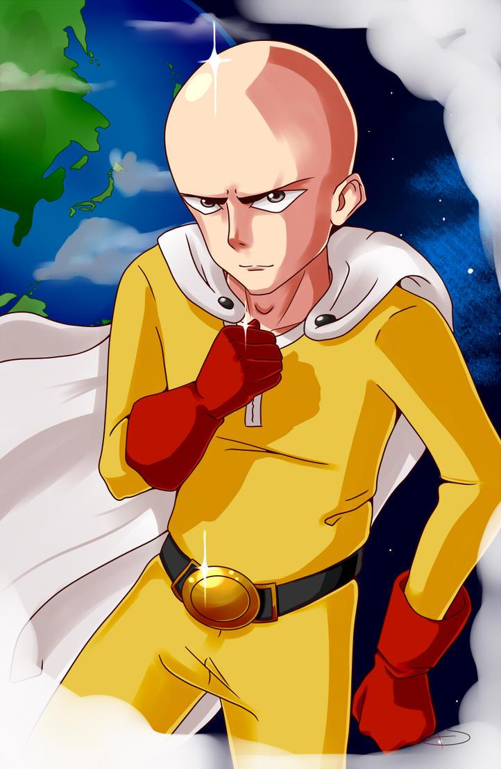 Saitama - One Punch Man by trap-sama