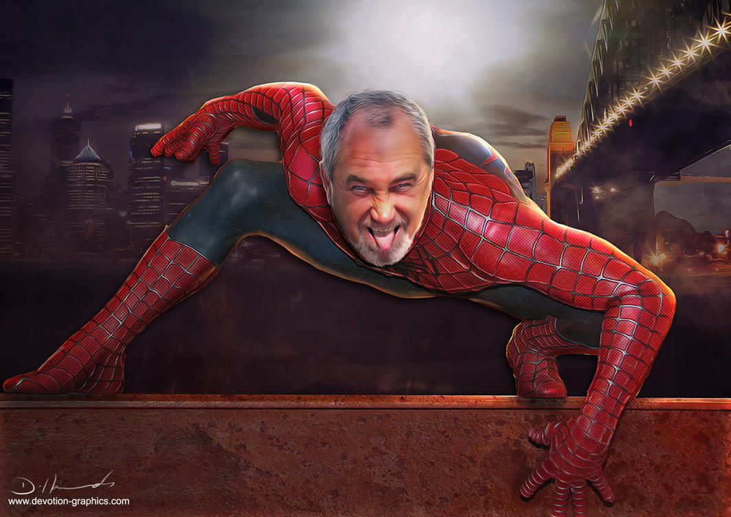 Spiderman-crouch by devotion-graphics