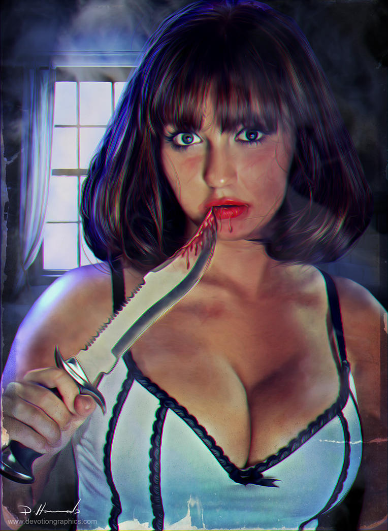 Girl with a Knife by devotion-graphics