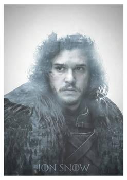 Jon Snow Double Exposure Print