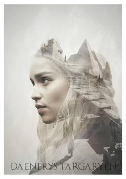 Daenerys - Game of Thrones Double Exposure Print
