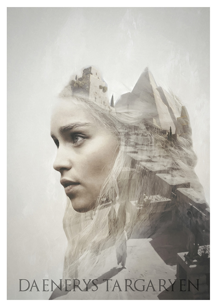 Daenerys - Game of Thrones Double Exposure Print by devotion-graphics