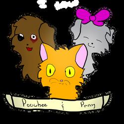 Poochee and Pansy by LemonMarang