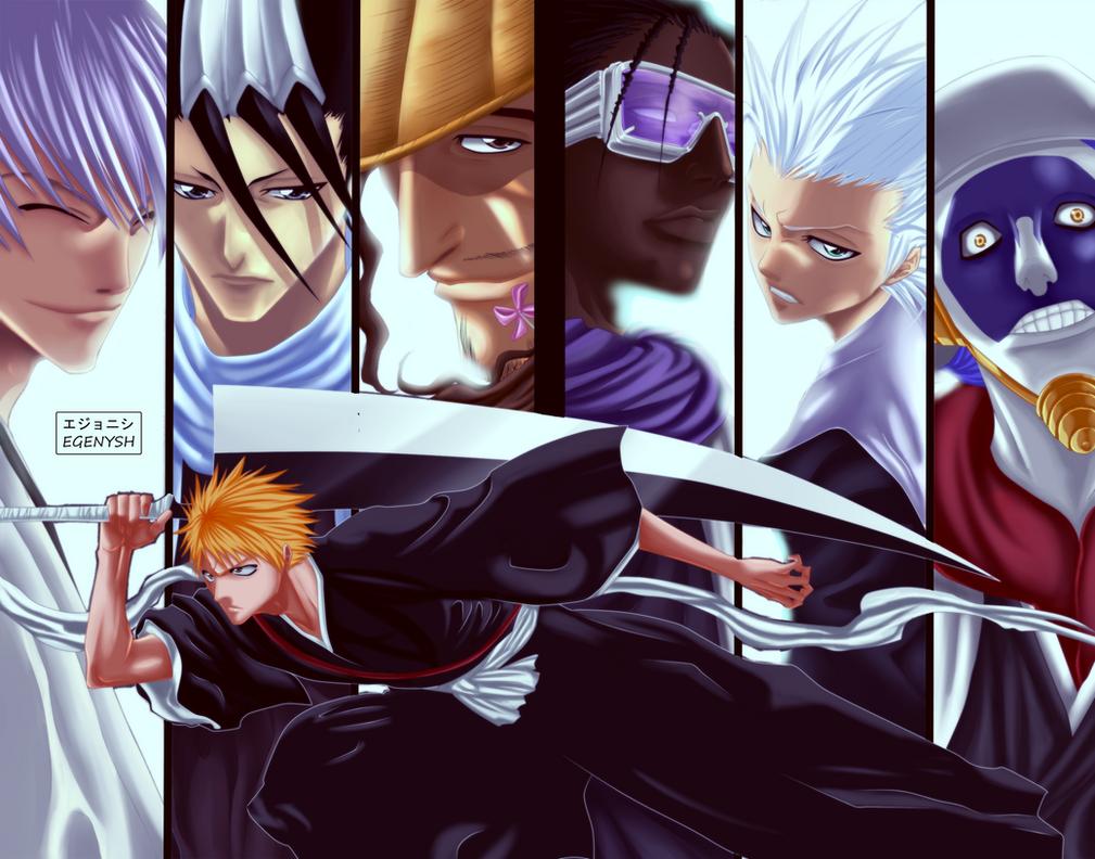 Captains Of Gotei 13 and Ichigo Ryoka by Egenysh