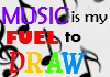 Music is my Fuel to Draw by coolwolfbro