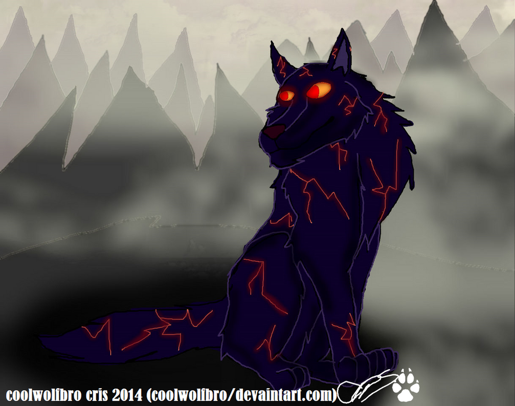 Fire Wolf from Adventure Time by coolwolfbro on DeviantArt