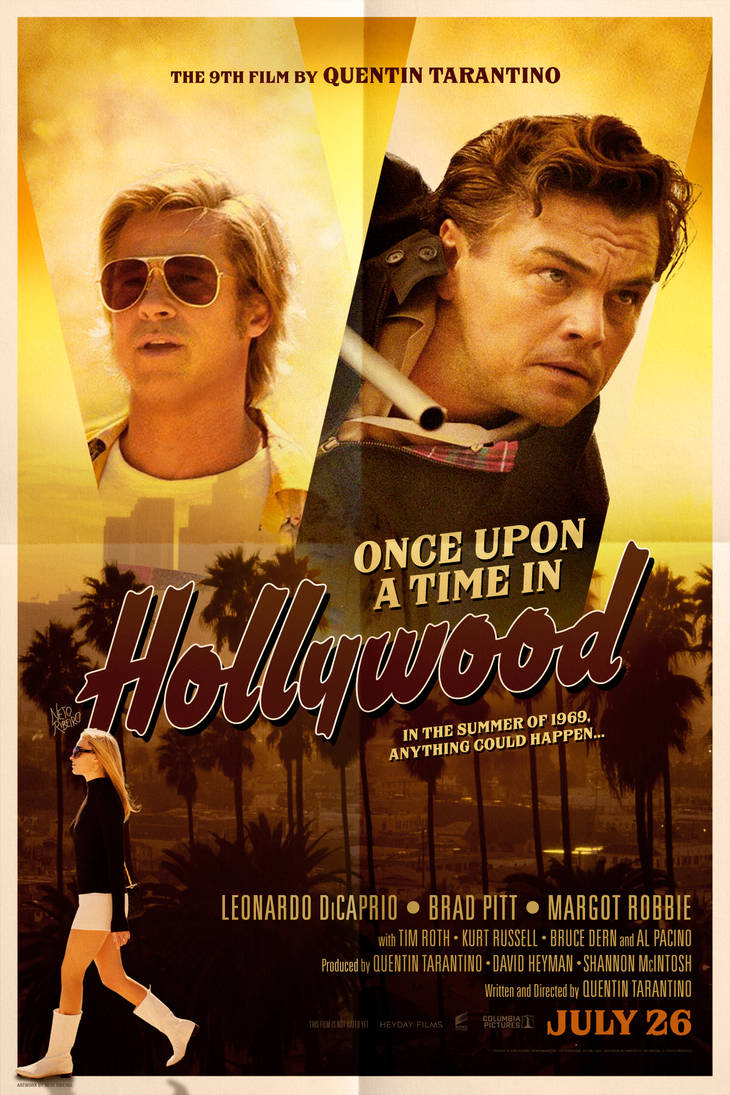 Once Upon a Time in Hollywood (2019) - Poster by NetoRibeiro89