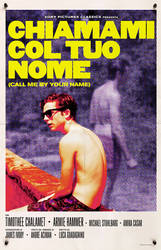 Call Me By Your Name (2017) - Italian Retro Poster