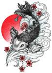 Blood Moon Series - Koi Fish