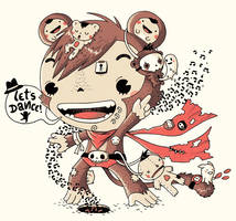 dancing monkie by Bisparulz