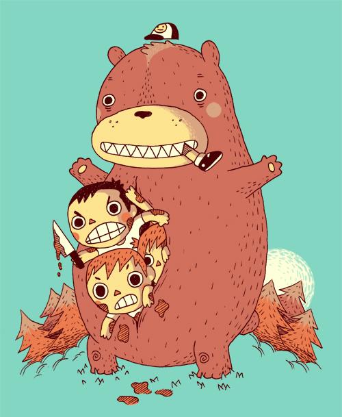 the bear who eat kids by Bisparulz
