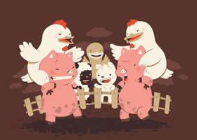 piggybacks and chicken fights by Bisparulz