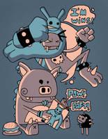PIG LOVE COMICS by Bisparulz