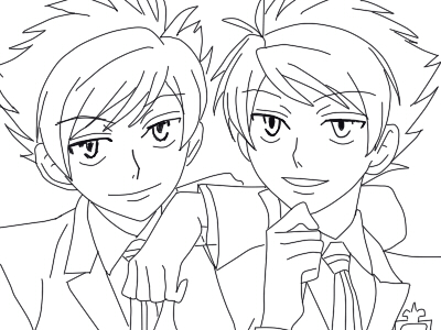 ouran highschool coloring pages - photo#28