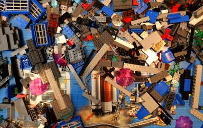 Gemischte Legosteine