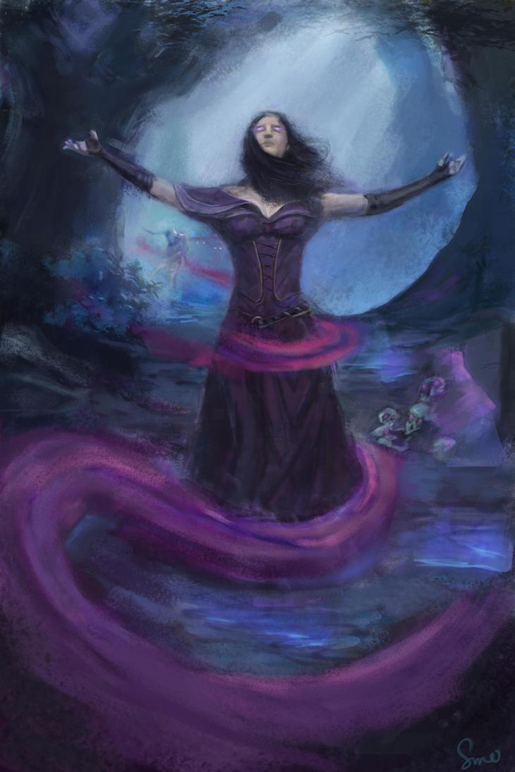 Liliana MTG inspired by Sunzo-Art