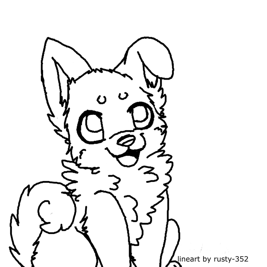 puppy lineart~