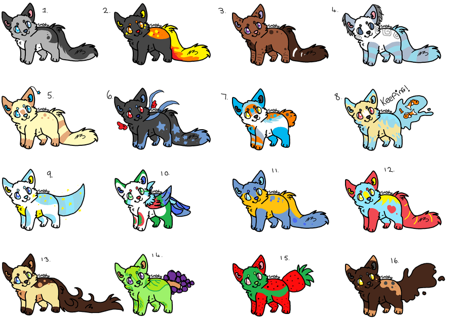 free adopts! xD by P0CKYY