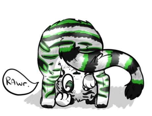 Chibi Comish_ Twitchytigs on FA by P0CKYY