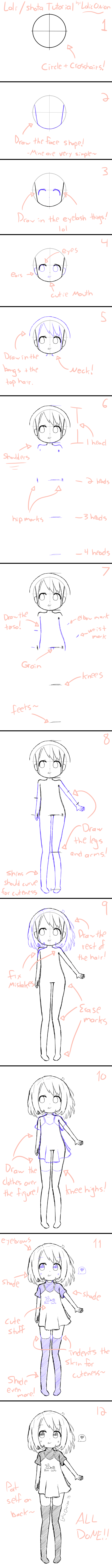 How To Draw A Loli Shota Tutorial By Loliconion On Deviantart