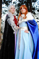 Daenerys Targaryen and Sansa Stark by ALIS-KAI