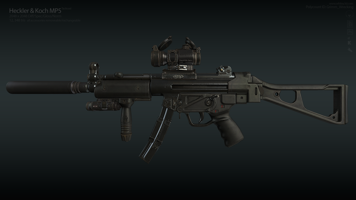Mp5 Side (old) by GrimmWrecking